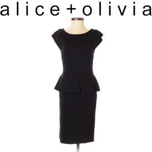 alice + olivia Peplum  Dress